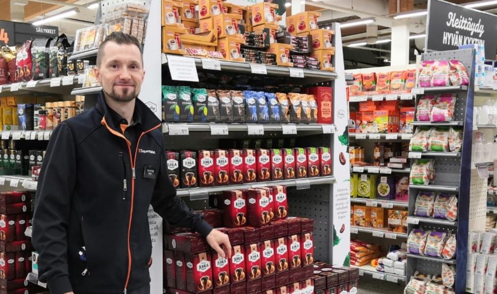 K-supermarket Oulaisten kauppia Miku Siljander