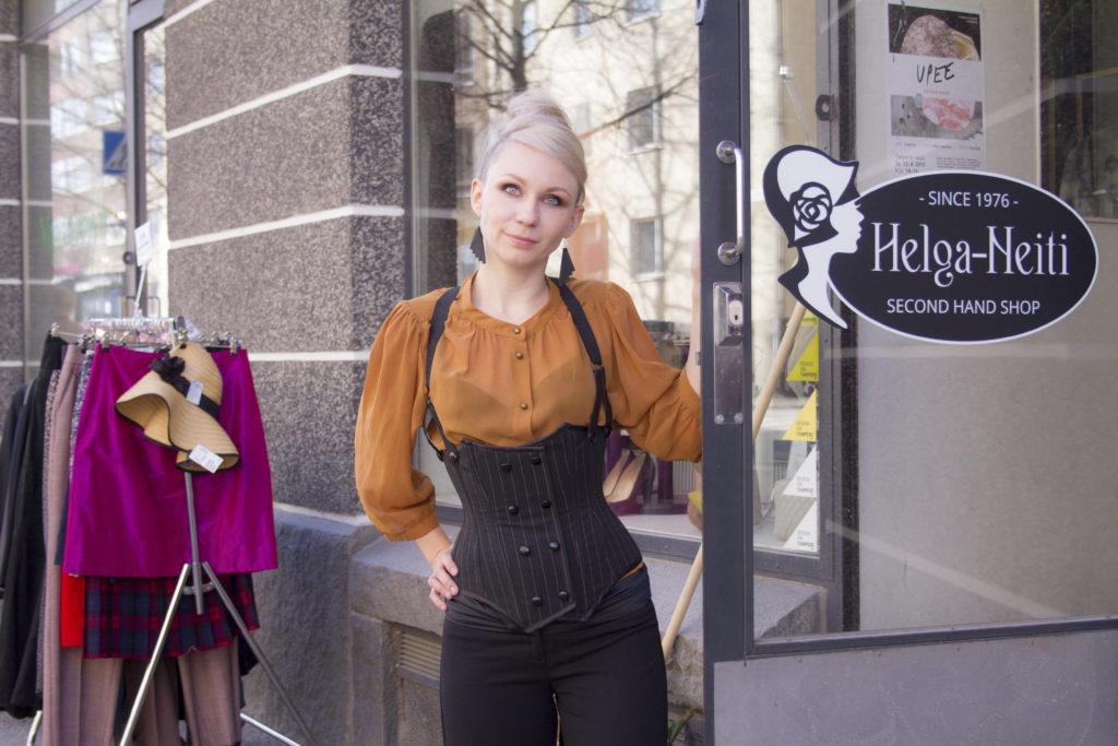 Second Hand -liike Helga Neidin omistaja Tiina Rikala